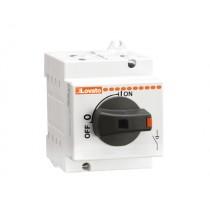 Sezionatore per impianti fotovoltaici con comando diretto 16A 1000V Lovato GD025AT2
