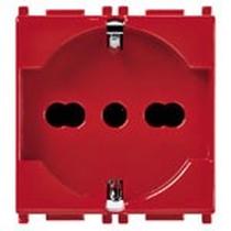 Presa universale VIMAR PLANA 2P+T 16A rossa