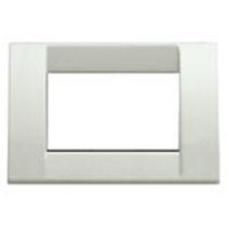 Placca Classica 3 Moduli Vimar Idea bianco granito