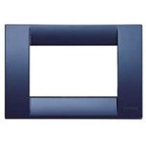 Placca Classica 3 Moduli Vimar Idea blu zaffiro