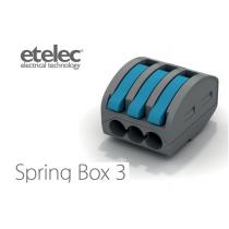 Connettore Isolato a Leve 1 Polo e 3 Conduttori SpringBox3 Etelec SBOX3
