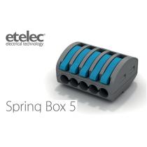Connettore Isolato a Leve 1 Polo e 5 Conduttori SpringBox5 Etelec SBOX5