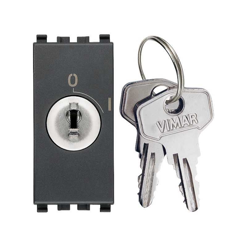 Interruttore Vimar Eikon 2P 16AX +chiave grigio Vimar 20083