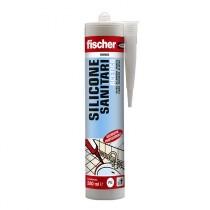 Silicone bianco a base acetica per l'impiego in ambienti sanitari Fischer SAS BI