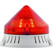 Segnalatore Luminoso e Acustico Rosso 24V Sirena 33723