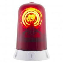 Segnalatore Luminoso Rotante Rosso 24V Sirena 63021