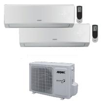 Climatizzatore Inverter dual Split 9000+9000 Btu Gas R32 Aermec MLG520