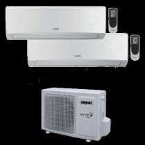 Climatizzatore Dual Spli 12000+12000 Btu Inverter Multisplit Gas R32 Aermec MLG730