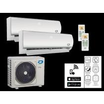 Climatizzatore Dual Split Diloc 9000+12000 Btu Inverter classe A++ Gas R32 Serie Frozen