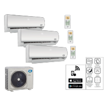 Climatizzatore Trial Split Diloc 9000+9000+9000 Btu Inverter classe A++ Gas R32 Serie Frozen