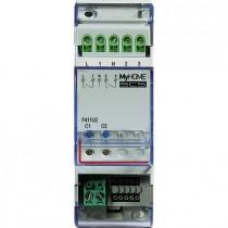 Attuatore a 2 canali indipendenti, interbloccabili 2 Moduli Din MyHome F411U2