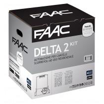 Delta2 Faac kit per automazione di cancelli scorrevoli fino a 500Kg