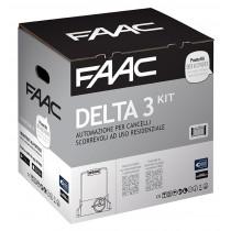 Delta3 Faac kit per automazione di cancelli scorrevoli fino a 900Kg