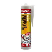 Silicone Bianco Neutro a Base Alcolica per l'impiego in Ambienti Sanitari Fscher SNS TR