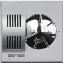 Termostato Ambiente Riscaldamento / Condizionamento 2 Posti Serie Civili Bticino Axolute Chiara HC4441