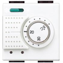 Termostato Ambiente Elettronico Con Commutatore Estate Inverno 2 Posti Serie Civili Bticino LivingLight N4442