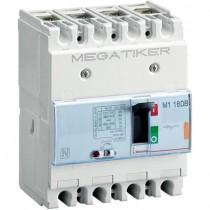 Interruttore magnetotermico 16 kA MEGATIKER scatolato Bticino 3P+N 125A T714E100