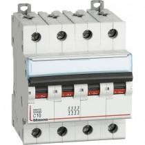 Interruttore Magnetotermico 4P 10A curva C - 10kA - 4 moduli DIN - 400V Bticino FH84C10