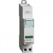 Portalampada Bticino per segnalazione a led spia verde 110/400 V - 1 modulo FN40V110