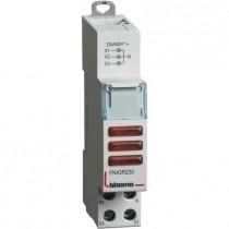 Portalampada Bticino triplo per segnalazione a led 3 spie rosse - 1 modulo FN43R230