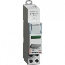 Interruttore 1NO da quadro 20 A 12-48V 1 modulo DIN con led spia verde Bticino FN51NAV12