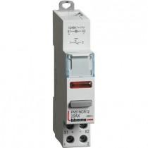 Interruttore 1NO da quadro 20 A 12-48V 1 modulo DIN con led spia rossa Bticino FN51NCR12