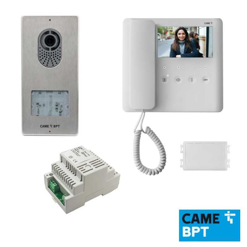 Kit videocitofonico monofamiliare monitor AGT V BPT AGTLVKIT 8K40CF-019