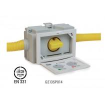 """Valvola a sfera per impianti gas sottotraccia 3/4"""" uscite laterali Giacomini G213SP014"""