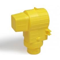 Contenitore in plastica colore giallo per alloggio raccordi RM139 Giacomini G139Y013