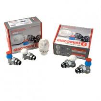 Kit valvola e detentore e testa termostatica attacco tubo ferro 12  Giacomini R470FX013