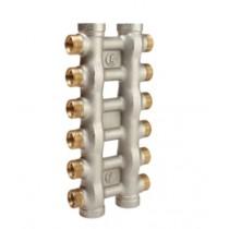 Collettore complanare nichelato misura 1 20 Stacchi da 16 Giacomini R587X020