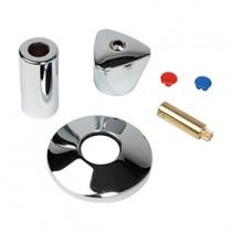 Rosone e cappuccio cromati per rubinetti a vitone Giacomini H174BX001