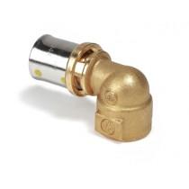Raccordo curvo filettato femmina 12 per tubi Gas 16X2  Giacomini RM129Y233