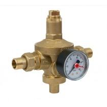 Riduttore di pressione con manometro Attacchi 12 Pollice Giacomini R153MY103