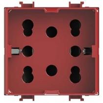 Presa Bipasso E Schuko Side Rossa Per Bticino Matix 4Box 4B.AMR.H21