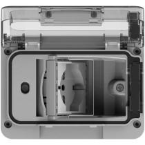 4Box WIDE IP55 Idrobox con presa shuko bivalente grigio 4B.W.RAL.015