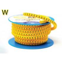 Anellino colore Giallo 2,5x5mm lettera W 1000 pz Grafoplast AZO3WWBY