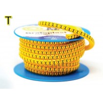 Anellino colore Giallo 2,5x5mm lettera T 1000 pz Grafoplast AZO3TTBY