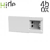 4Box HIDE bianca 3 moduli con 2 prese RJ45 cat 6 UTP integrate 4B.01.004