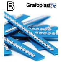 Anellino Lettera B confezione 240 pz  Grafoplast  BL117GBBBW