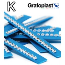 Anellino Lettera K confezione 240 pz  Grafoplast  BL117GKKBW