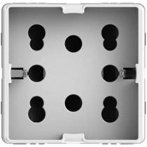 Presa Bipasso e Schuko Side Bianca per Gewiss System 4Box 4B.G20.H21