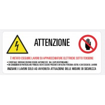 Cartello in vinile prevenzione infortuni Grafoplast LA10060F1