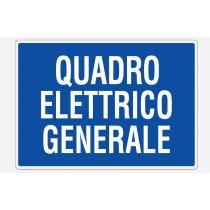 Cartello in PVC semiespanso  Quadro elettrico generale 297x210 Grafoplast LC13120P1