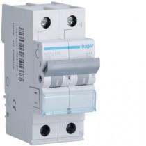 Magnetotermico 1 Polo+N 10A 4,5KA C 2 Moduli Hager MYN510