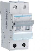 Magnetotermico 1 Polo+N 25A 4,5KA C 2 Moduli Hager MYN525