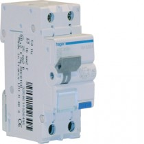 Magnetotermico Differenziale 1 Polo+N 6A 30MA AC 4,5KA Hager ADC806H