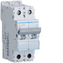 Magnetotermico 1 Polo+N 6A 6KA C 2 Moduli Hager MCA506