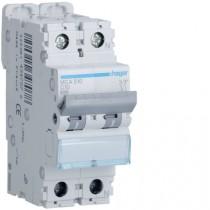 Magnetotermico 1 Polo+N 10A 6KA C 2 Moduli Hager  MCA510
