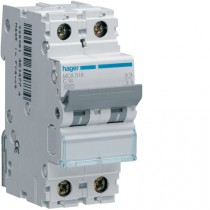 Magnetotermico 1 Polo+N 16A 6KA C 2 Moduli Hager MCA516